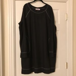 Above the knee long sleeve plus size dress